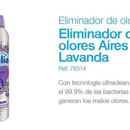 Excelente eliminador de olores con nueva fragancia  Aires de lavanda #familiaInstitucional