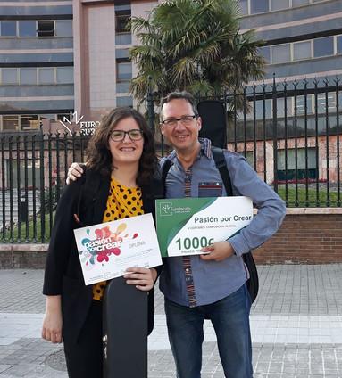 Con Marta Aparicio