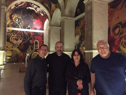 Con Jesús Mateo, Begoña Olavide y Javier Bergia.