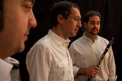 Con Manuel Margeliza y Eduardo Calleja