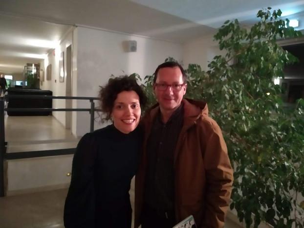 Con Sheila Blanco