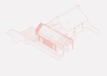 Diagram of extension to listed farmhouse