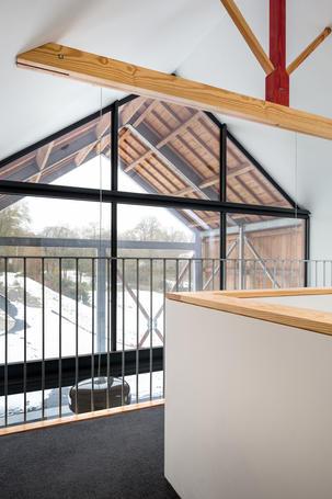 Vaulted barn interior design