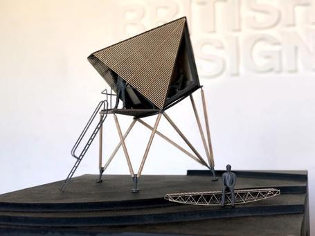 Architectural laser cut 3d printed model