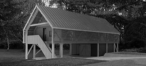 New contemporary outbuilding in AONB, Devon and Dorset