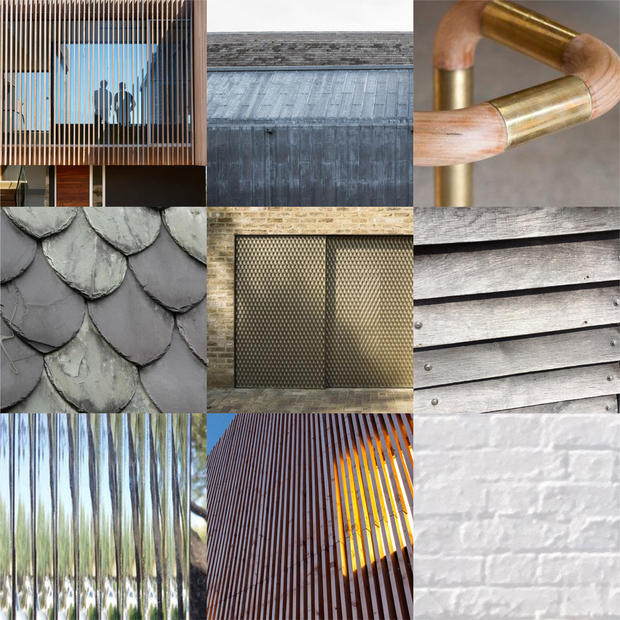 Material palette for architecture in Cornwall