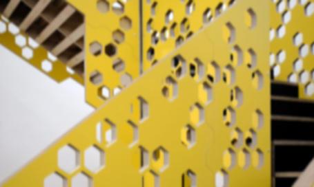 Detail of custom staircase designed in Exeter, Devon