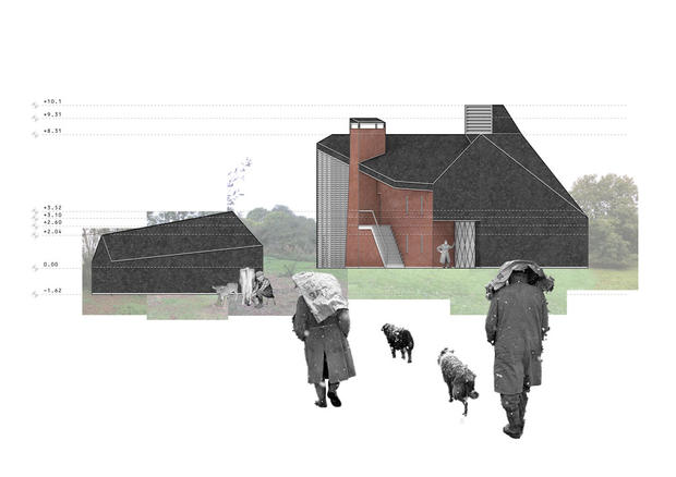 Elevation of Paragraph 79 eco house