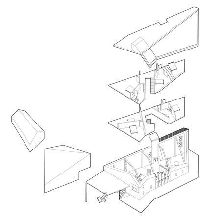 Diagram of innovative interpretation of traditional long house