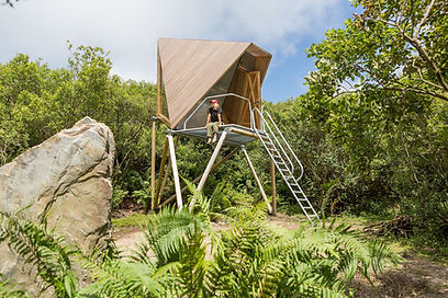Off-grid Kudhva camping pods in Cornwall