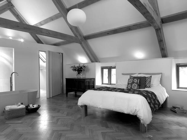 Barn interior design by architects in Exeter