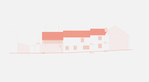 Elevation drawing of large house extension
