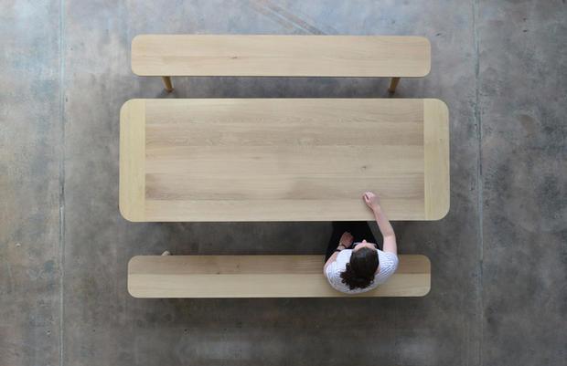Bespoke architect designed oak table