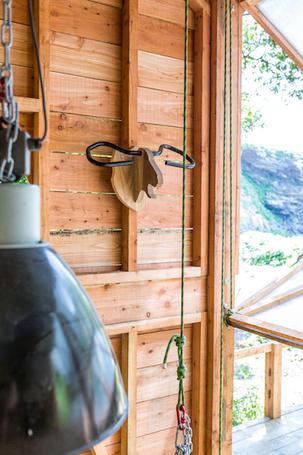 Interior design exposed timber cladding