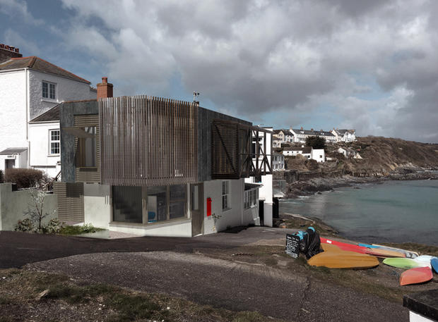 Visualisation of converted house by the sea in Cornwall by award winning architect