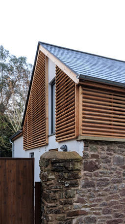 Timber and stone architecture near Exeter, Devon