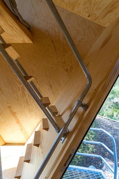 Space saving staircase interior design