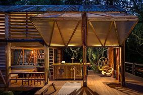 Timber frame off-grid pop up woodland building