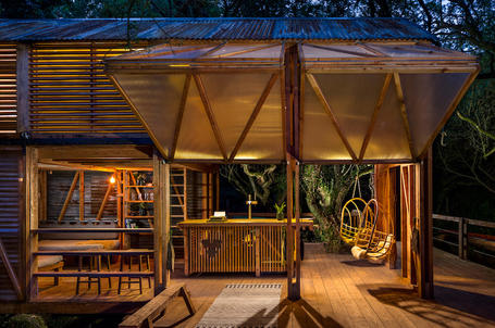 Wood and polycarbonate architecture and design