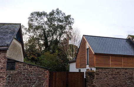 Extension and renovation of cob and stone village house in Devon