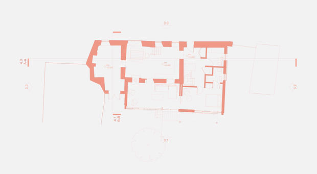 Floorplan of large house extension in Devon