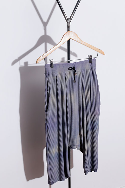 Saruel Laço Curta Tie Dye Lilás