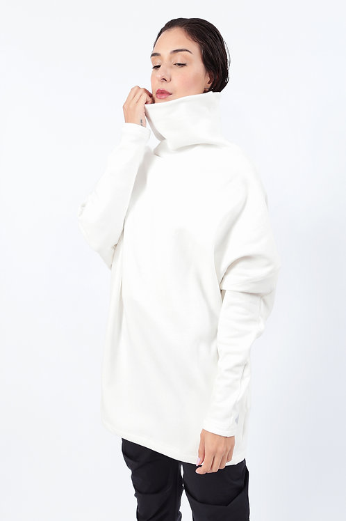 Blusão Cozy Moletom Branco Gelo