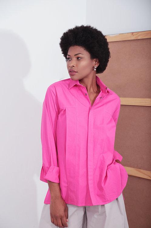 Camisa Eugenia Tricoline Pink