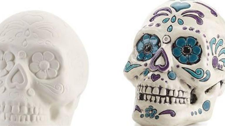 Sugar Skull Painting at Los Jefes
