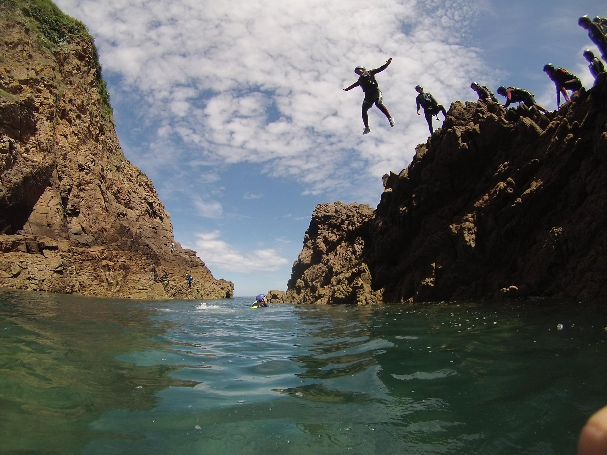 Coasteering in Jersey