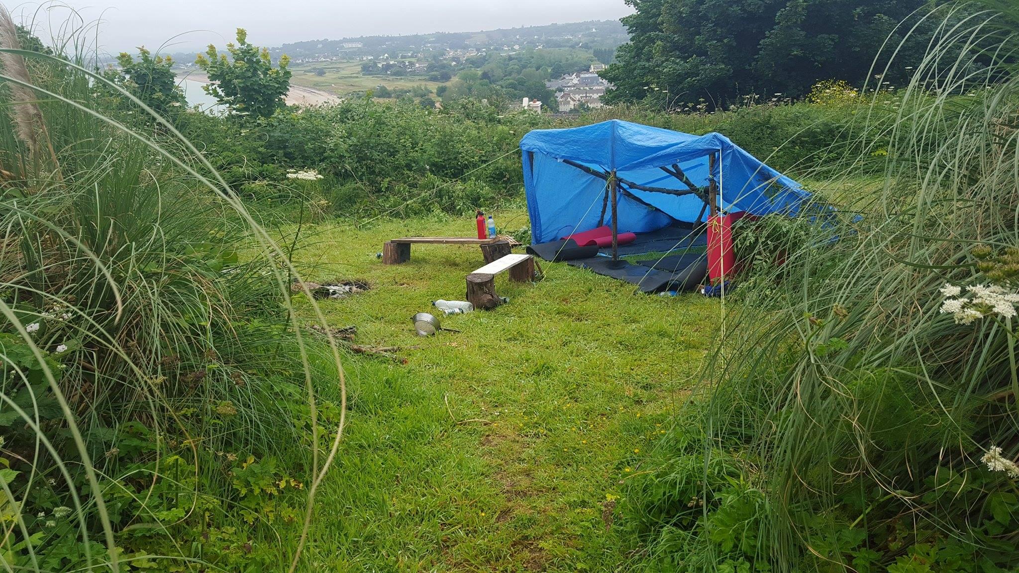 24 Hour Survival challenge shelter