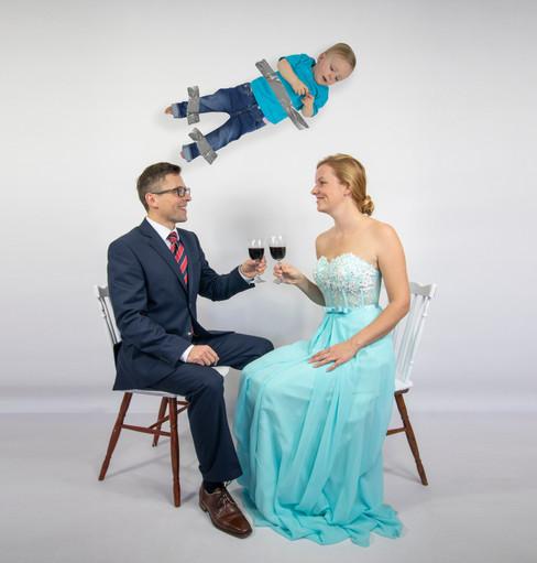Rodinný vtipný kaendár Yena studio rodinné fotografie