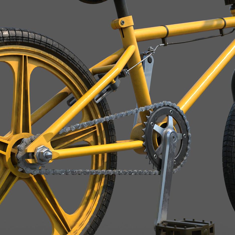 BMX Bike_Crankset CloseUp