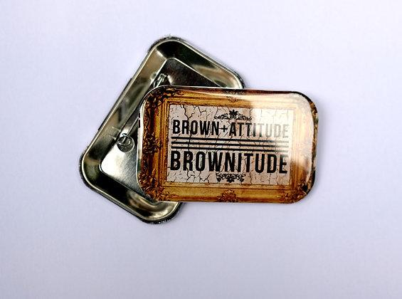 Brownitude frame button badges