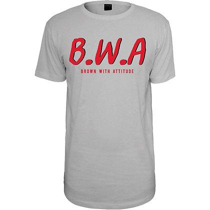 W B.W.A GREY T-shirt