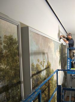 Omlijsting wandschildering Rijksmuse
