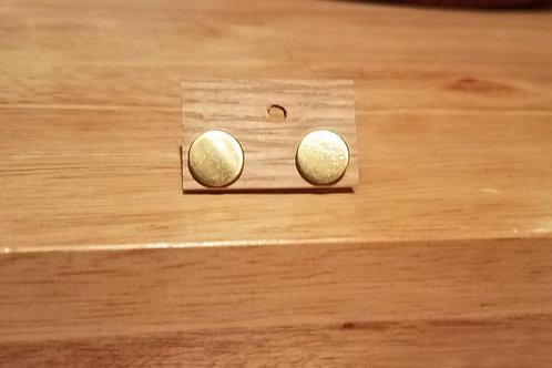 Small Circular Gold Earrings