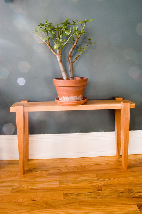 Solid Cherry Plant Stand