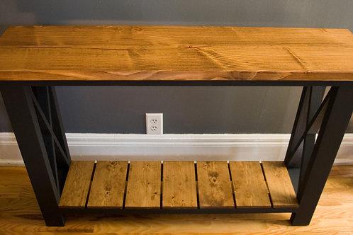 Narrow Rustic Entryway Table