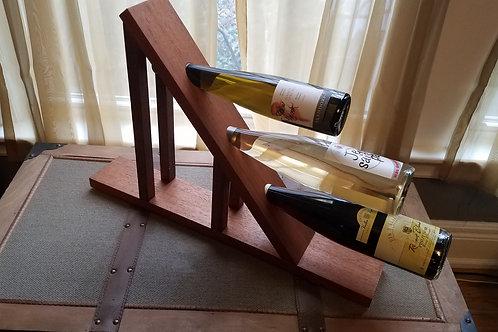 Three Bottle Wine Holder