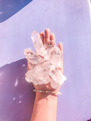 clear quartz crystal healig