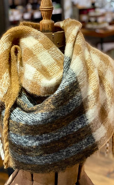 Super Soft Tan Oblong Scarf