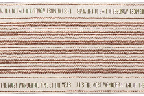 It's The Most Wonderful Time Table Runner