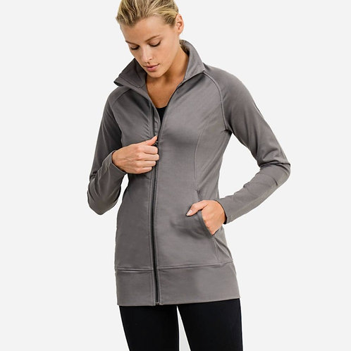 High Neck Longline Active Jacket