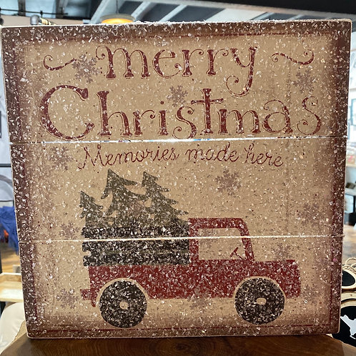 Christmas Truck Sign