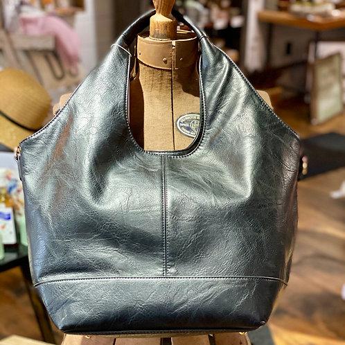 Soft Black Shoulder Bag