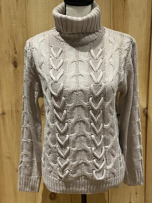 Dusty Rose Turtleneck Sweater