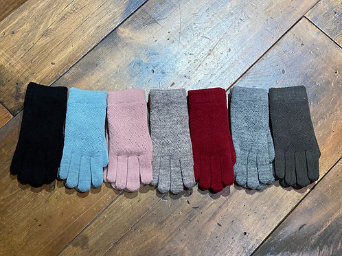Lined Knit Gloves
