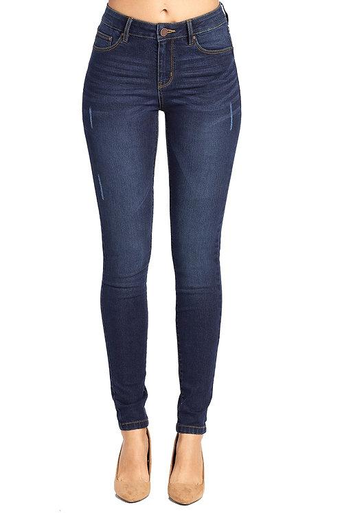 Dark Wash High Waisted Skinny Jeans
