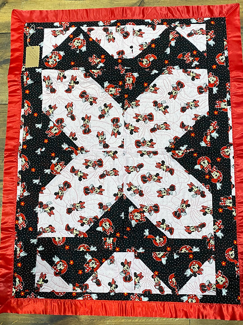 Quilted Minnie Mouse Baby Blanket